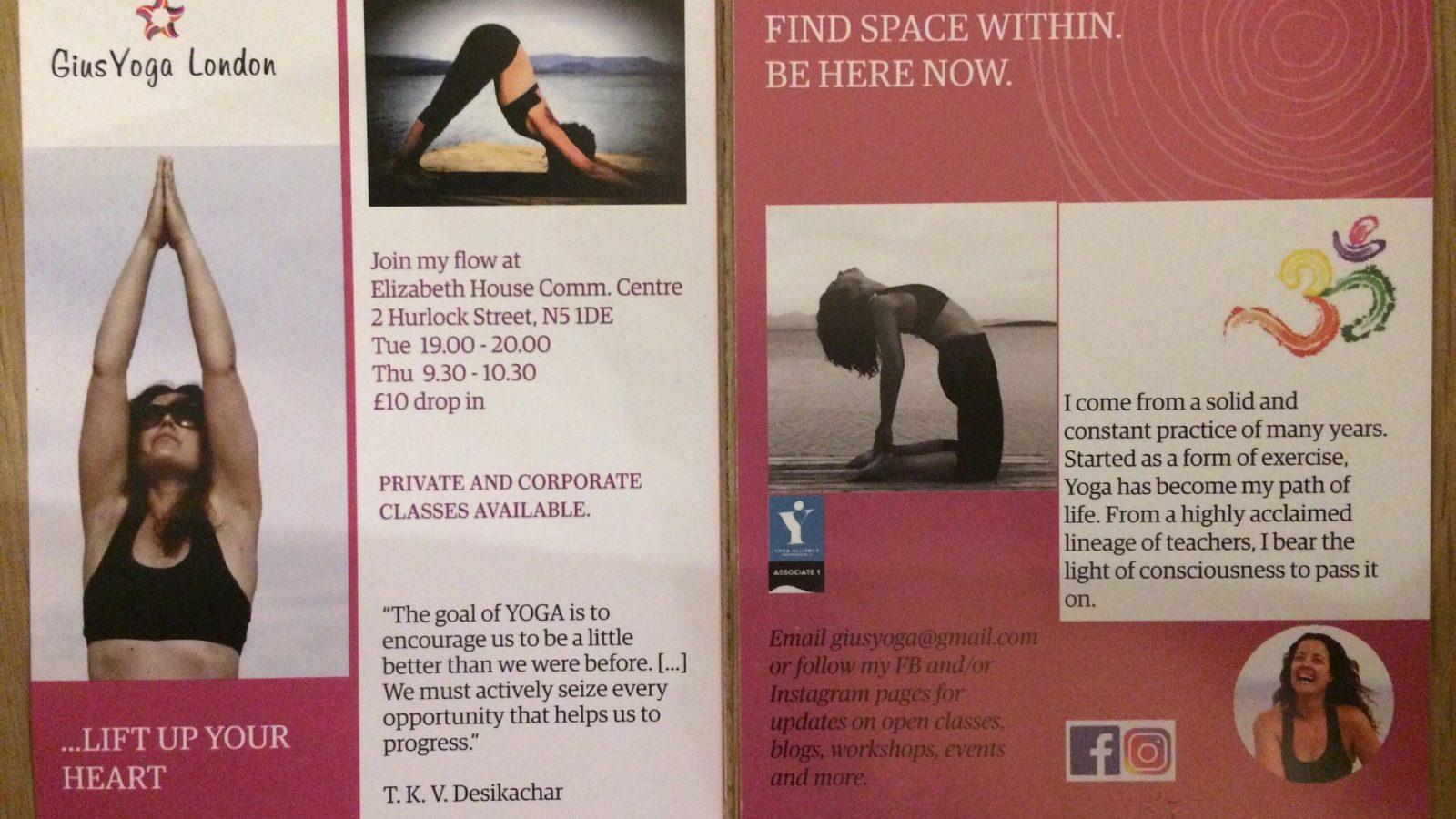 Gius Yoga flyer